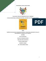 Universidad Catolica Santa Maria Proyecto Final de Metodolgia Presentacion