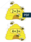 Bee Addition and Subtraction Cards