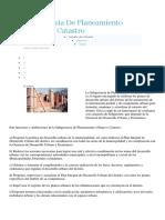Funciones Gerencia de Planeamiento Urbano y Catastro