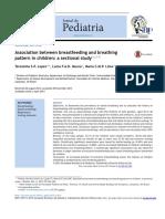 Association Between Brreastfeeding and Breathing Pattern in Children