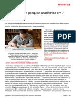 Como Fazer Uma Pesquisa Academica Em 7 Passos