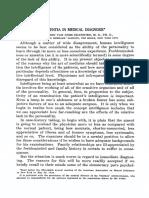 Amentia in Medical Diagnosis