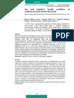 Artigo Physical Activity and Cognitive Health Conditions