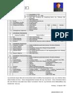 Contoh Daftar Riwayat Hidup Curriculum Vitae (cv)