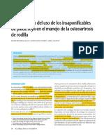 Ensayo Clínico Del Uso de Los Insaponificables de Palta-soya -En El Manejo de La Osteoartrosis