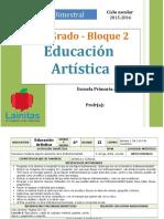 Plan 6to Grado - Bloque 2 Educación Artística