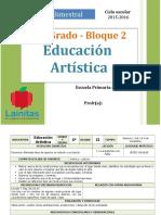 Plan 5to Grado - Bloque 2 Educación Artística