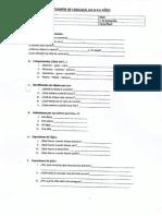 Examen de Lenguaje 4.0 a 4.6 Años
