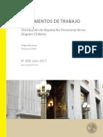 Distribución de riqueza no previsional de los hogares chilenos - F. Martínez & F. Uribe