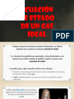 Ecuación de Estado de Un Gas Ideal