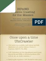 BUbiNG - Massive Crawling  for the Masses