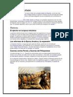 Ejército Espartano y Ejercito Ateniense