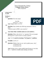 Delhi university PHP question paper solution