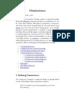 Omniscience (Stanford Encyclopedia of Philosophy)