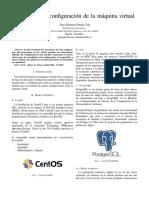 Configuración básica para maquina virtual de centOS con PostgreSQL