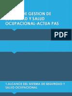 Sistema de Gestion de Seguridad y Salud Ocupacional-Actua