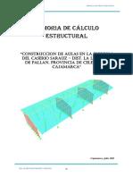 Memoria Calculo Estructural Colegio