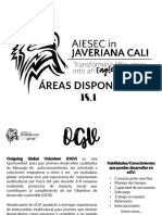 Áreas Disponible AIESEC en Javeriana Cali 18.1.
