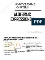 Nota Algebraic Expression II