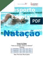 Cartaz Natação 2010  2011