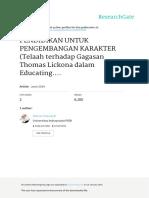 Pendidikan Untuk Pengembangan Karakter