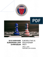 2018 Harvard European Law Symposium -- Full Program