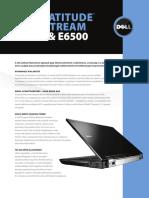 Dell Latitude E6400 E6500 Spec Sheet