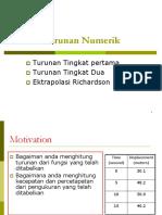 [4]Turunan Numerik