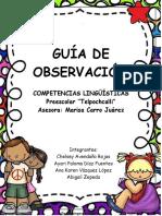 Guia de observación de las competencias lingüísticas en preescolar