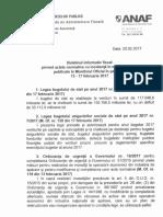 Buletinul Informativ Fiscal Pentru Perioada 13 17 Februarie 2017