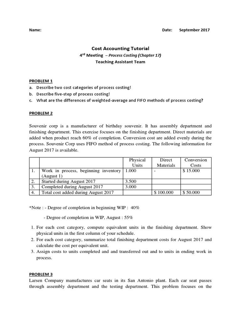 Soal Asistensi AB Pertemuan 4 | Inventory | Cost