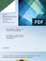 Fundamentos de La Administración Moderna