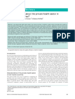 WHO Bulletin Regulating Private Providers
