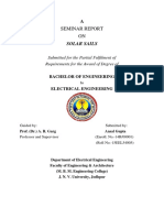 SEMINAR REPORT ON SOLAR SAILS