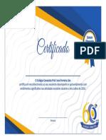 Certificado Cnec Melhor Do Ano 2016