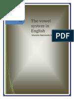 The Vowel System in English by Mustafa Abdulsahib