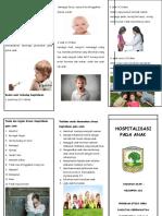 leaflet hospitalisasi pada anak.doc