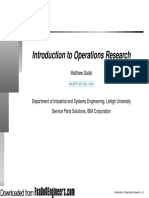 Operations Research (Introduction)