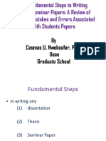 The Fundamental Steps to Writing Thesis