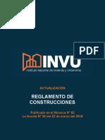 Reglamento de Construcciones INVU 2018