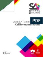 2018 South Australian Training Awards - Nomination Book