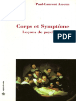 Paul-Laurent Assoun Corps Et Symptôme Leçons de Psychanalyse, Volume 2