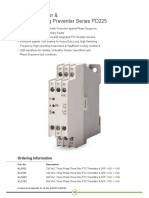 Get PTC Thermistor and Single Phasing Preventer Series PD 225 - GIC India
