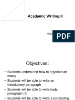 Academic Writing II