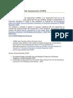 Chemical Health Risk Assessment