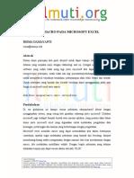 Risma Damayanti Mengenal Macro Pada Microsoft Excel