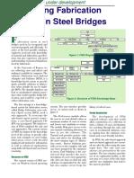 REDUCING FABRICATION ERRORS IN STEEL BRIDGES