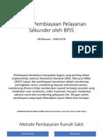 Sistem Pembiayaan Pelayanan Sekunder Oleh BPJS