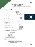 Formula Matematik 1449 SPM