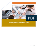 Management Short Course